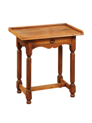 Directoire Style Walnut Side Table