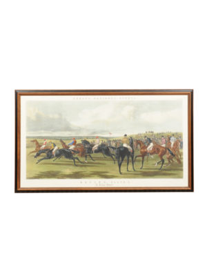 Framed Equestrian Engraving A False Start