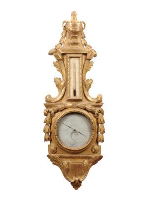 Louis XVI Style Giltwood Banjo Barometer