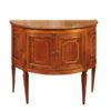 Neoclassical Walnut Demilune Cabinet