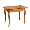 Louis XV Fruitwood Table with Checkerboard Inlaid Top