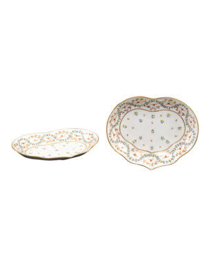 Pair 19th Century English Derby Shaped Dishes