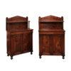 Pair 19th Century Mahogany Cabinets