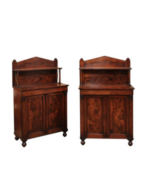 Pair 19th Century Mahogany Cabinets