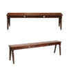 Pair 19th Century Oak Hall Benches