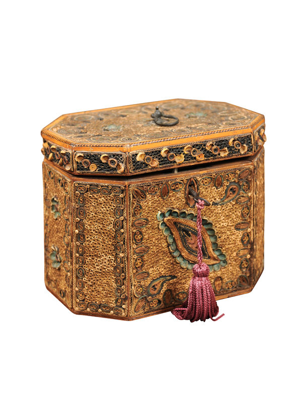 18th Century English Rolled Paper Tea Caddy