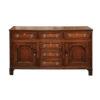 19th Century English Inlaid Oak Dresser Base