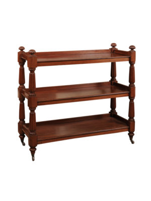 19th Century English Mahogany Trolley