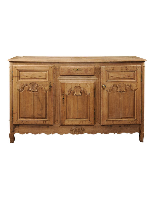 19th Century French Bleached Oak Enfilade