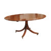 Crossbanded Oval Breakfast Table in Mahogany