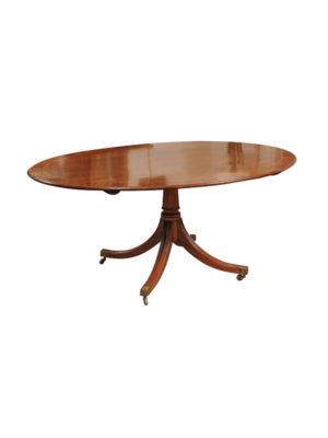 Crossbanded Oval Breakfast Table in Mahogany