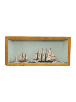 Diorama of a Sailboat