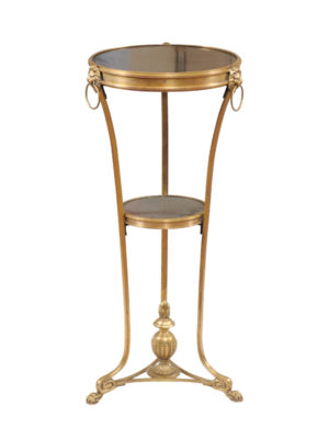 Empire Style Brass & Marble Gueridon