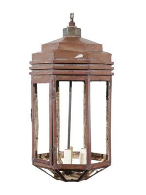 Octagonal Copper Lantern 4 Lights