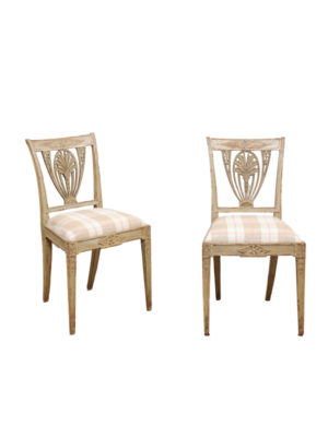 Swedish Neoclassical Style Painted Side Chairs