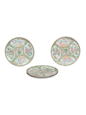 Four Rose Medallion Plates