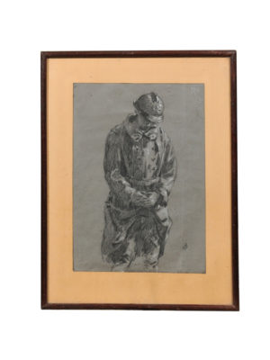 Framed Drawing of a French Soldier