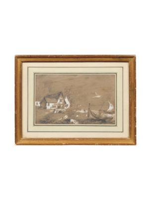 Gilt Framed French Landscape Drawing