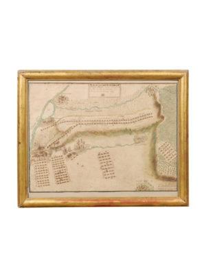 Gilt Framed Map