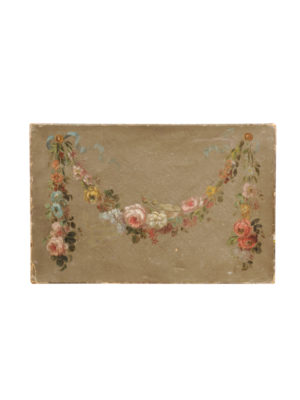 Oil on Canvas Painting of Flower Garland