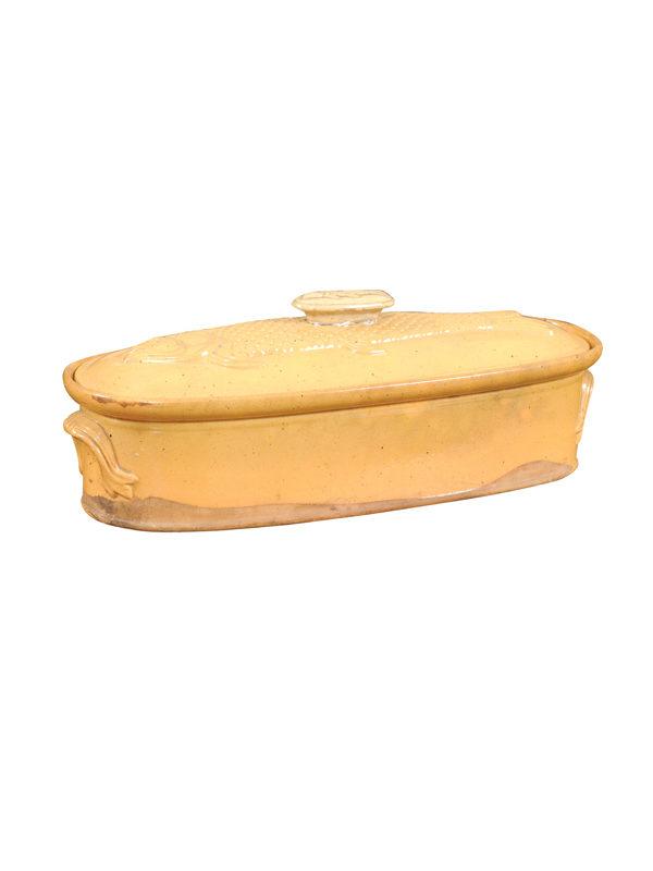 Yellow Glazed Covered Fish Baker