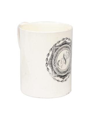 18th Century English Monogrammed Mug N