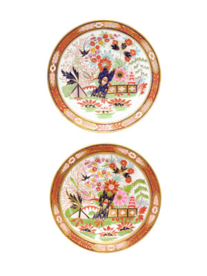 Pair 19th Century English Dessert Plates