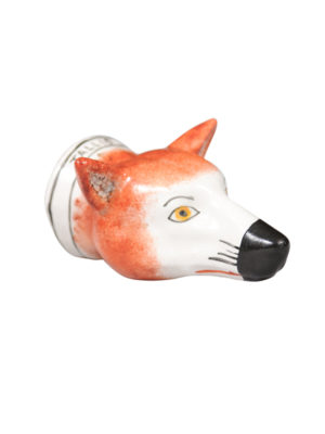 19th Century English Fox Head Stirrup Cup