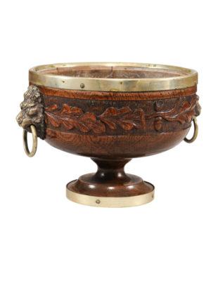 Carved Oak Bowl