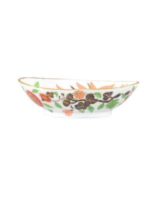 English Banana Leaf Porcelain Vegetable Dish