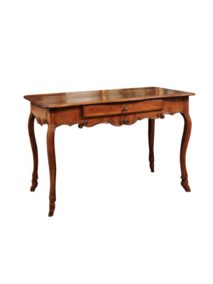 Louis XV Fruitwood Console with Hoof Feet