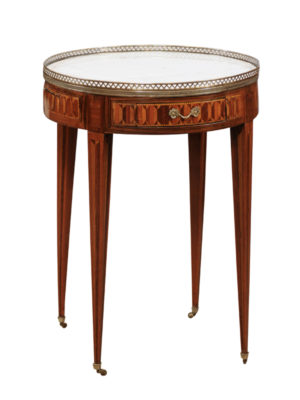 Louis XVI Style Parquetry Inlaid Bouillotte Table