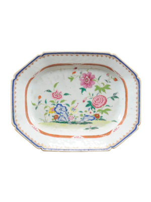 Octagonal Chinese Export Platter