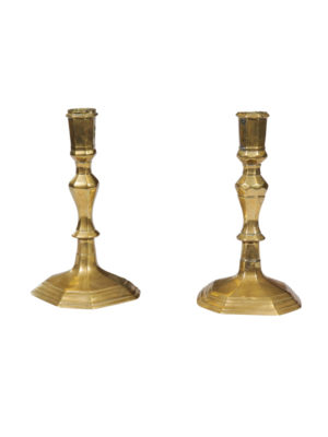 Pair 18th Century Brass Candlesticks