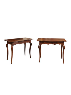 Pair Louis XV Peiod Walnut Consoles