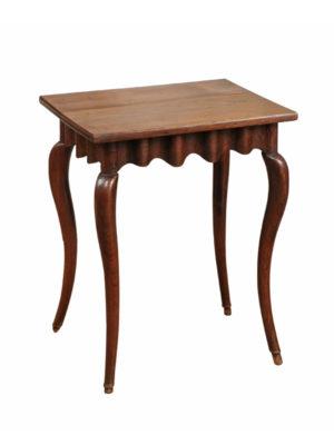 Rococo Walnut & Oak Side Table