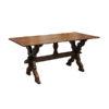 19th Century Flemish Oak Trestle Table