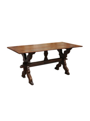 19th Century Flemish Oak Trestle Table