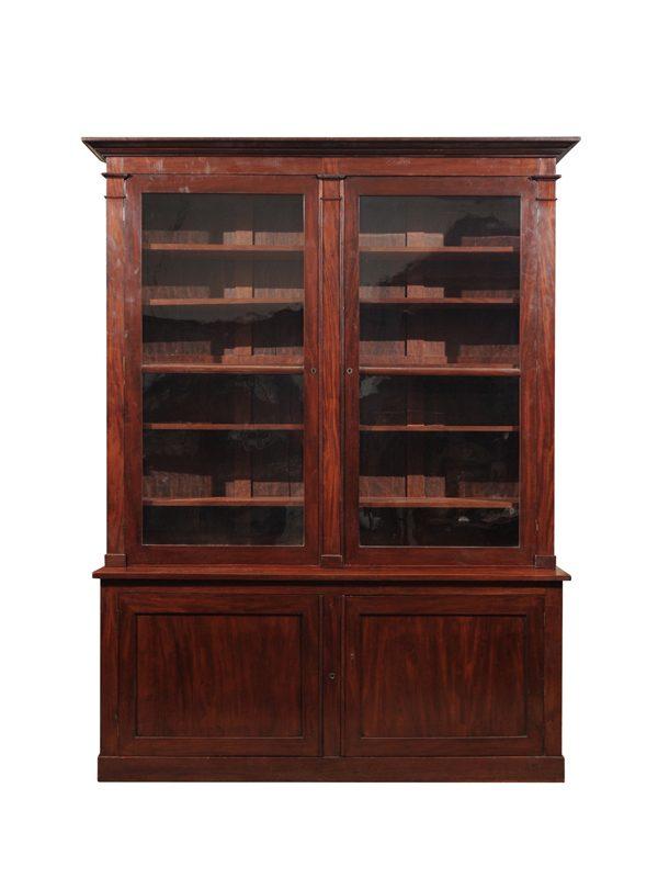 Directoire Mahogany Bookcase