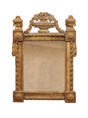 Louis XVI Giltwood Mirror with Urn