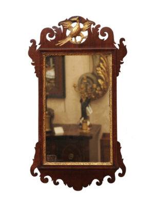 Mahogany Chippendale Mirror with Gilt Eagle