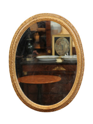 18th Century French Giltwood Oval Mirror