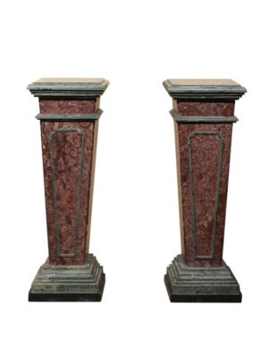 19th Century Italian Neoclassical Style Marble Pedestals