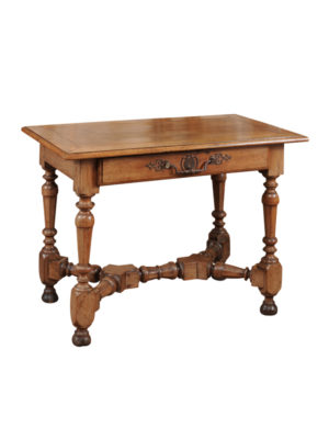 Louis XIV Console Table with Turned Cross Stretcher