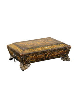 19th Century English Chinoiserie Work Box