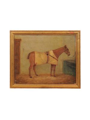 19th Century English Framed Horse Portrait