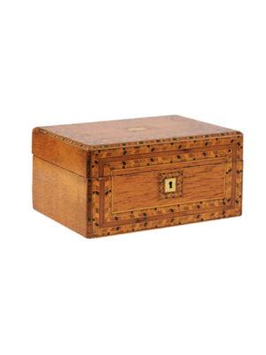 19th Century English Parquetry Inlaid Box