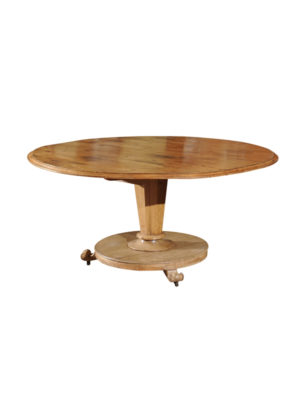 English Pine & Bleached Mahogany Dining Table