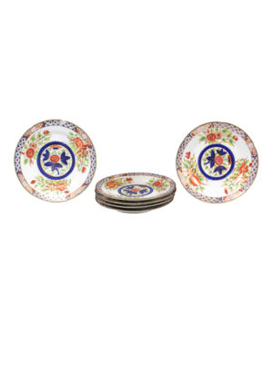 Set 6 19th Century English Coalport Plates