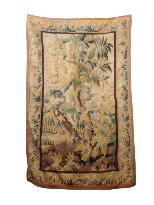 17th Century Aubusson Tapestry with Forest Scene